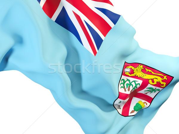 Integet zászló Fidzsi-szigetek közelkép 3d illusztráció utazás Stock fotó © MikhailMishchenko