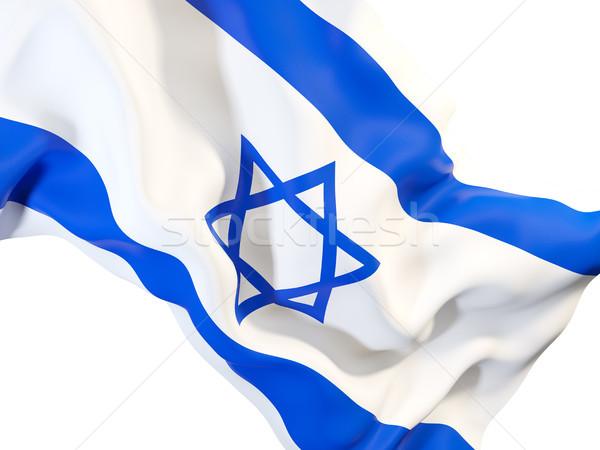 Integet zászló Izrael közelkép 3d illusztráció szövet Stock fotó © MikhailMishchenko