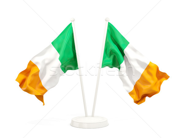 Two waving flags of ireland Stock photo © MikhailMishchenko