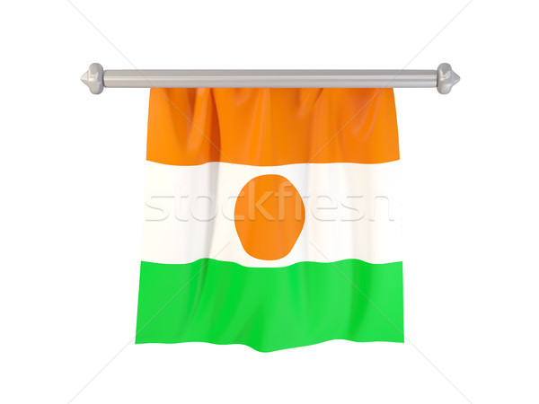 флаг Нигер изолированный белый 3d иллюстрации Label Сток-фото © MikhailMishchenko