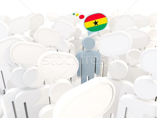 Man with flag of ghana in a crowd Stock photo © MikhailMishchenko