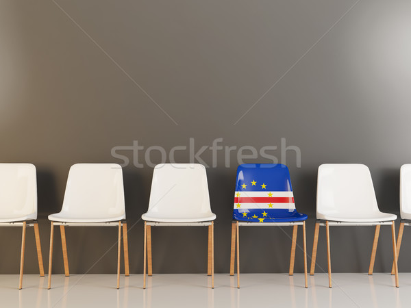 Chair with flag of cape verde Stock photo © MikhailMishchenko