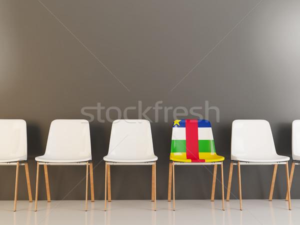Stoel vlag centraal afrikaanse republiek rij Stockfoto © MikhailMishchenko