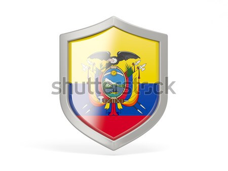 Shield icon with flag of new jersey. United states local flags Stock photo © MikhailMishchenko