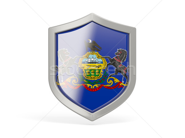 Shield icon with flag of pennsylvania. United states local flags Stock photo © MikhailMishchenko