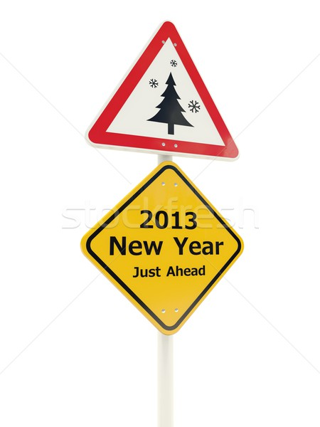 2013 New Year Just Ahead road sign Stock photo © MikhailMishchenko