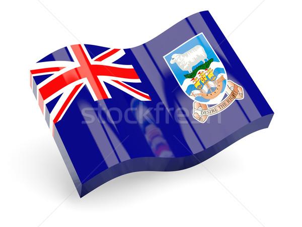 3D zászló Falkland-szigetek izolált fehér utazás Stock fotó © MikhailMishchenko