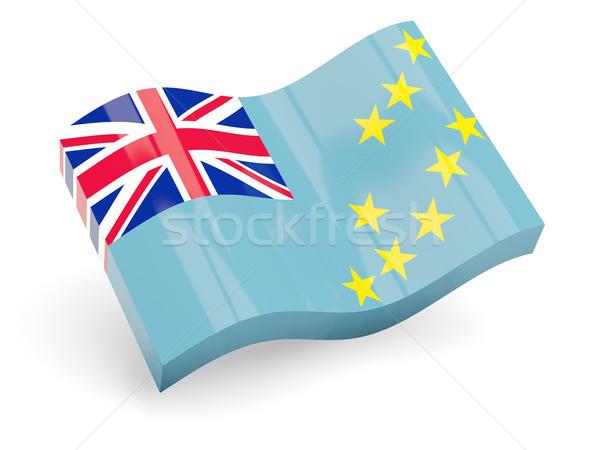 3D bandeira Tuvalu isolado branco onda Foto stock © MikhailMishchenko
