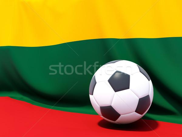 Bandeira Lituânia futebol equipe bola país Foto stock © MikhailMishchenko