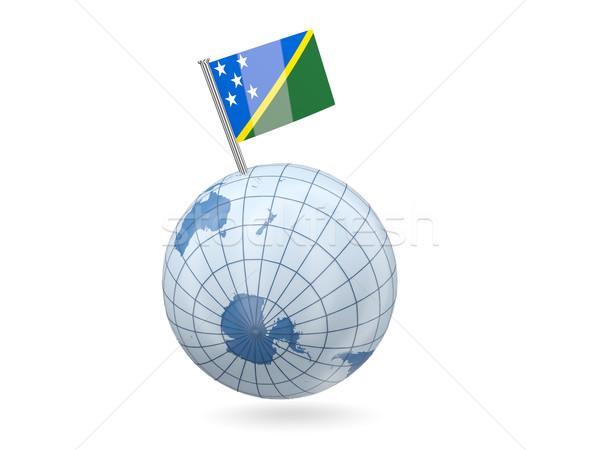Globe with flag of solomon islands Stock photo © MikhailMishchenko
