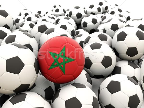 Voetbal vlag Marokko regelmatig zomer Stockfoto © MikhailMishchenko