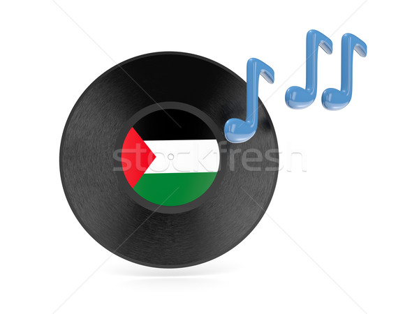 Vinyl disk with flag of palestinian territory Stock photo © MikhailMishchenko