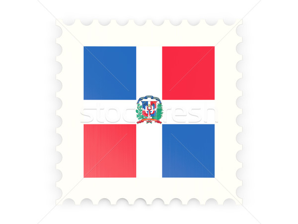 Postage stamp icon of dominican republic Stock photo © MikhailMishchenko