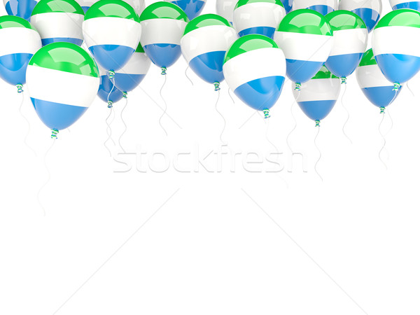 Balloon frame with flag of sierra leone Stock photo © MikhailMishchenko