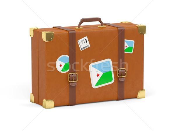 чемодан флаг Джибути путешествия изолированный белый Сток-фото © MikhailMishchenko