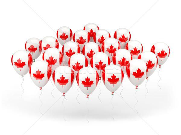 Léggömbök zászló Kanada izolált fehér utazás Stock fotó © MikhailMishchenko