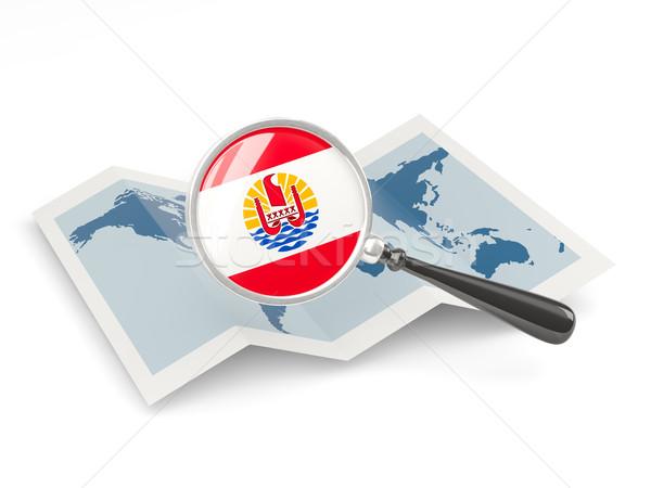 Bayrak fransız polinezya harita Stok fotoğraf © MikhailMishchenko