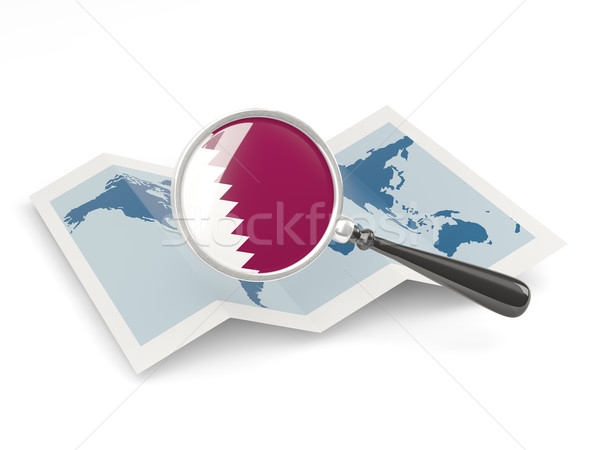 флаг Катар карта путешествия Сток-фото © MikhailMishchenko