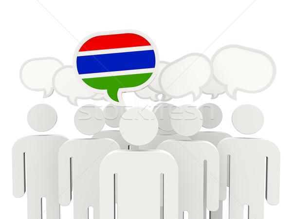 人 フラグ ガンビア 孤立した 白 会議 ストックフォト © MikhailMishchenko