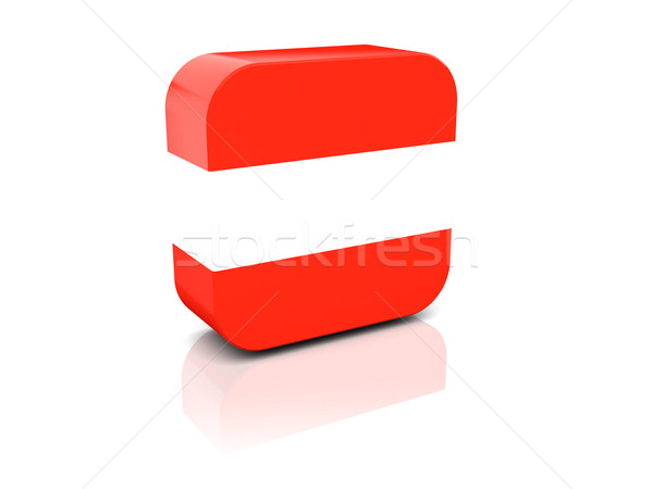 Square icon with flag of austria Stock photo © MikhailMishchenko
