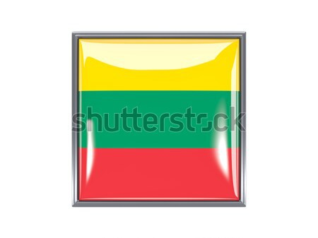 広場 アイコン フラグ リトアニア 金属 フレーム ストックフォト © MikhailMishchenko