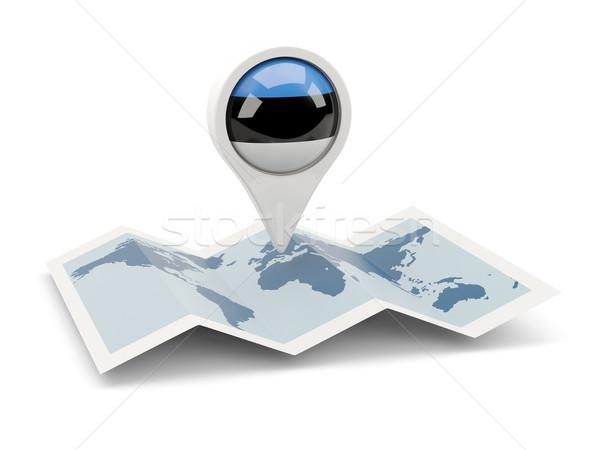 ピン フラグ エストニア 地図 旅行 白 ストックフォト © MikhailMishchenko