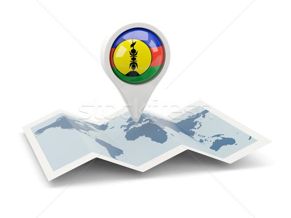 Round pin with flag of new caledonia Stock photo © MikhailMishchenko