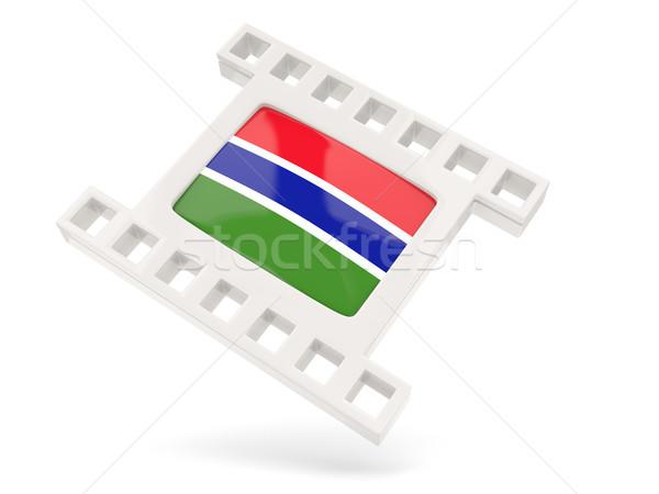 Movie icon with flag of gambia Stock photo © MikhailMishchenko