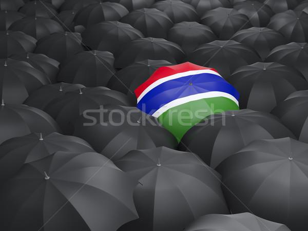 傘 フラグ ガンビア 黒 傘 旅行 ストックフォト © MikhailMishchenko