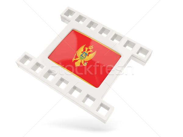 фильма икона флаг Черногория изолированный белый Сток-фото © MikhailMishchenko