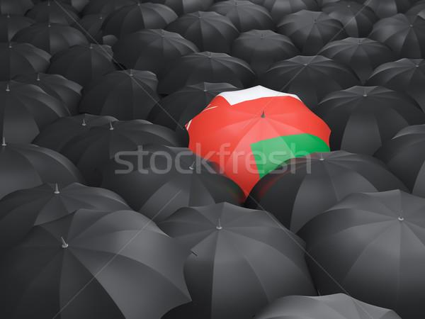 зонтик флаг Оман черный путешествия Сток-фото © MikhailMishchenko