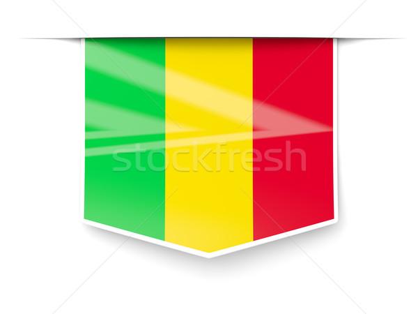 Square label with flag of mali Stock photo © MikhailMishchenko