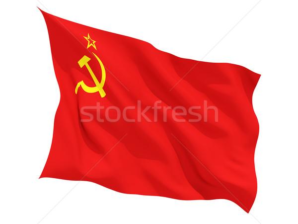 Bandiera urss isolato bianco Foto d'archivio © MikhailMishchenko