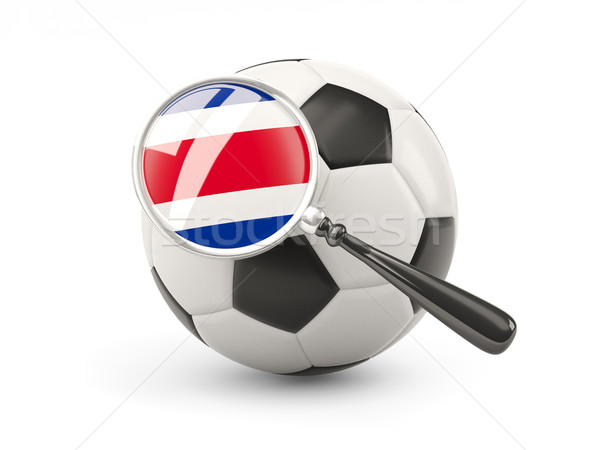 Football with magnified flag of costa rica Stock photo © MikhailMishchenko