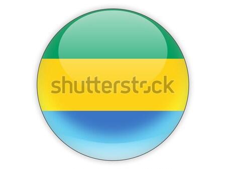 икона флаг Габон изолированный белый путешествия Сток-фото © MikhailMishchenko