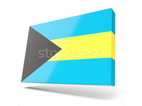 Square icon with flag of bahamas Stock photo © MikhailMishchenko