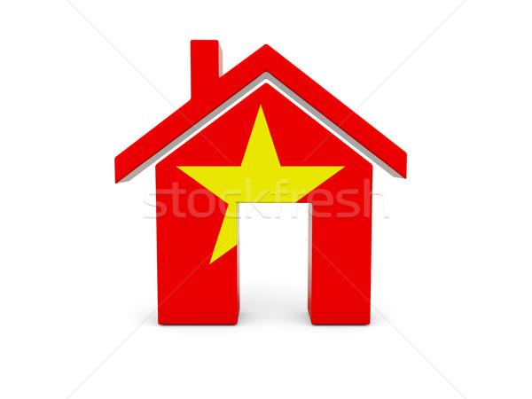 Home vlag Vietnam geïsoleerd witte land Stockfoto © MikhailMishchenko