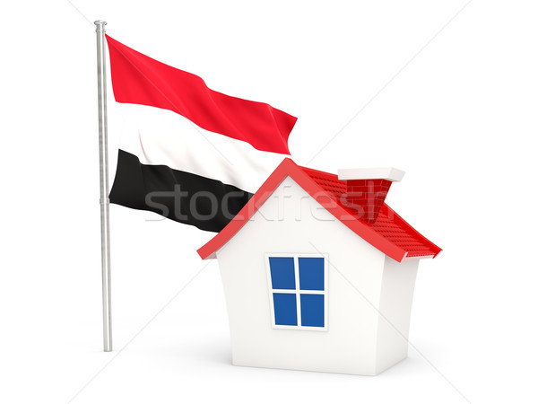 дома флаг Йемен изолированный белый домой Сток-фото © MikhailMishchenko
