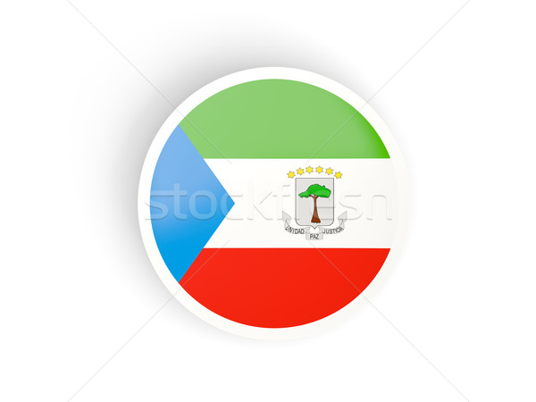 Round sticker with flag of equatorial guinea Stock photo © MikhailMishchenko