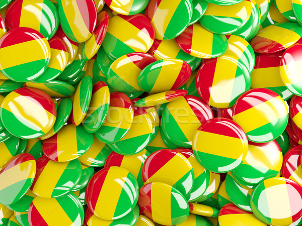 Background with round pins with flag of mali Stock photo © MikhailMishchenko