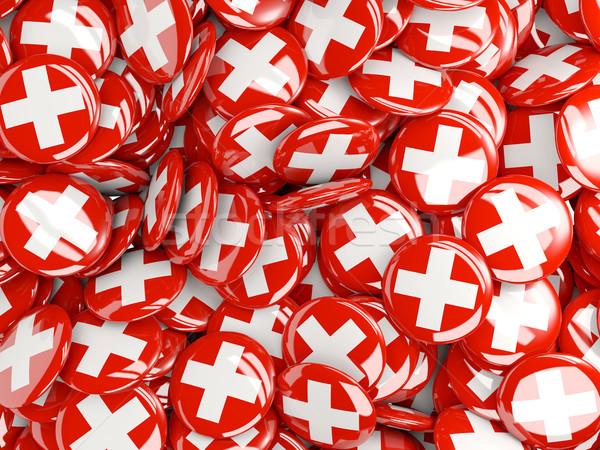 Bandeira Suíça mundo fundo viajar país Foto stock © MikhailMishchenko