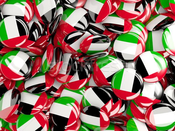 Background with round pins with flag of united arab emirates Stock photo © MikhailMishchenko