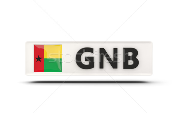 Square icon with flag of guinea bissau Stock photo © MikhailMishchenko