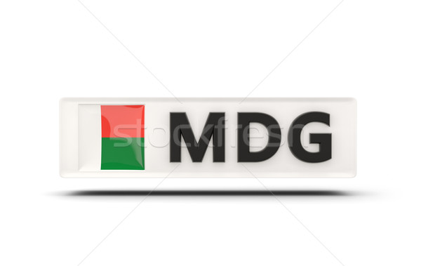 Square icon with flag of madagascar Stock photo © MikhailMishchenko