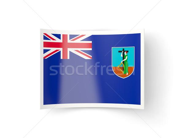 Bent icon with flag of montserrat Stock photo © MikhailMishchenko