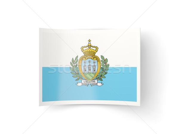 Bent icon with flag of san marino Stock photo © MikhailMishchenko