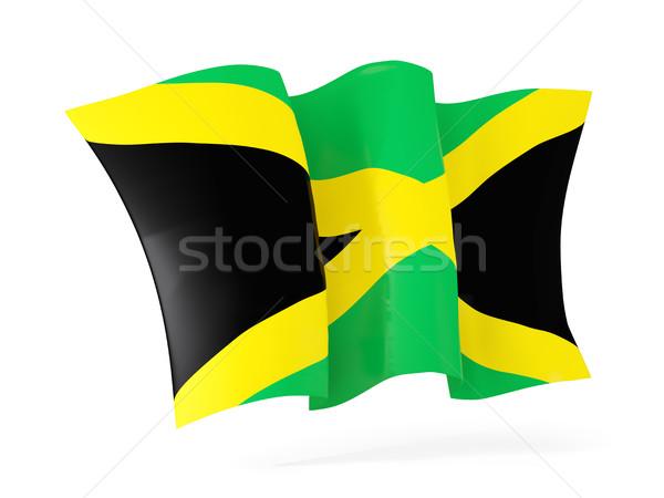 Bandera Jamaica 3d aislado blanco Foto stock © MikhailMishchenko