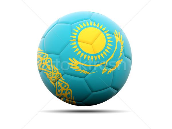 Futball zászló Kazahsztán 3d illusztráció futball sport Stock fotó © MikhailMishchenko
