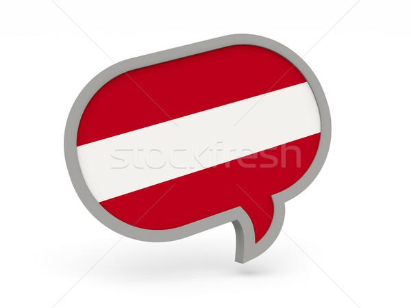 Chat icon vlag Letland geïsoleerd witte Stockfoto © MikhailMishchenko