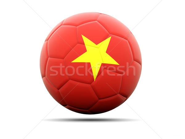 Сток-фото: футбола · флаг · Вьетнам · 3d · иллюстрации · Футбол · спорт